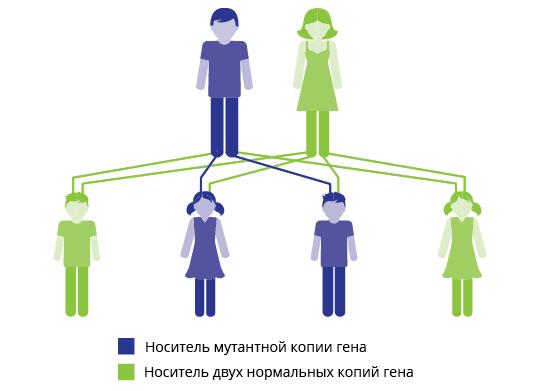 Наследование мутации ДНК, вызывающей рак легких